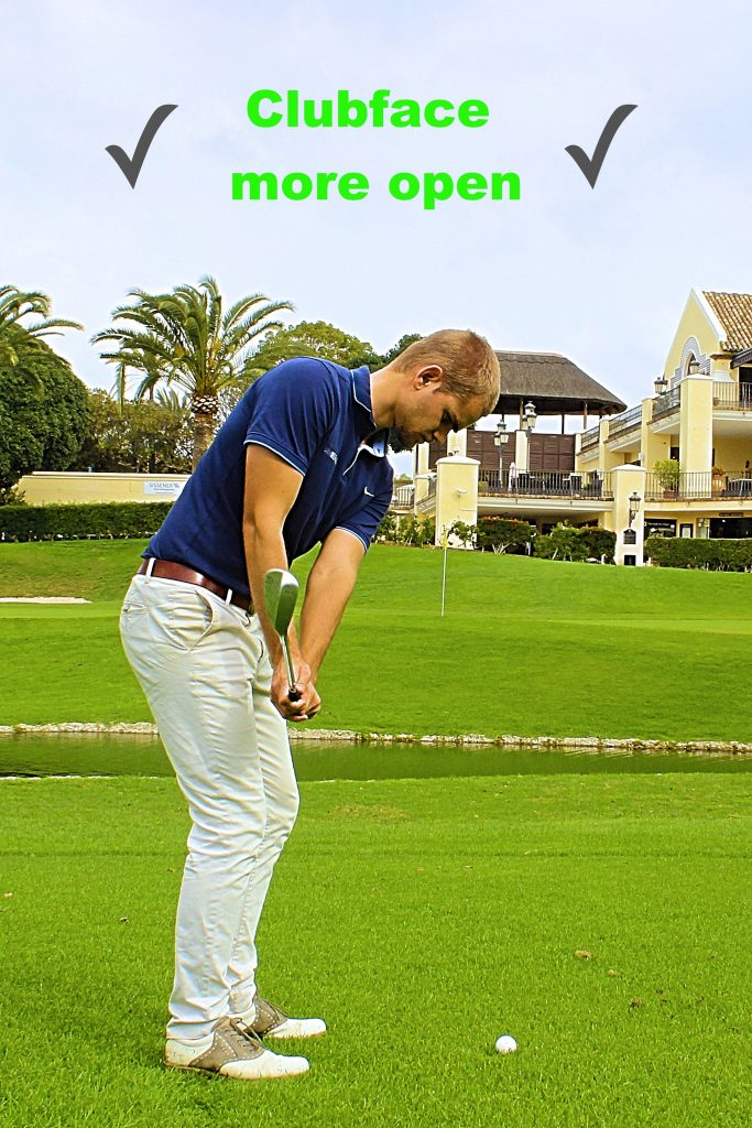 Open clubface