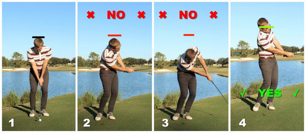 Move up when chipping