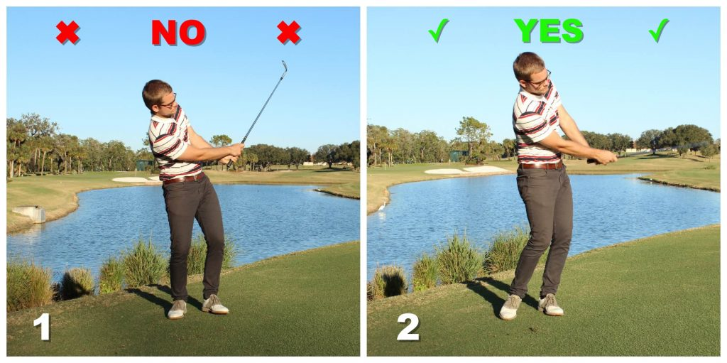 Weight forward when chipping