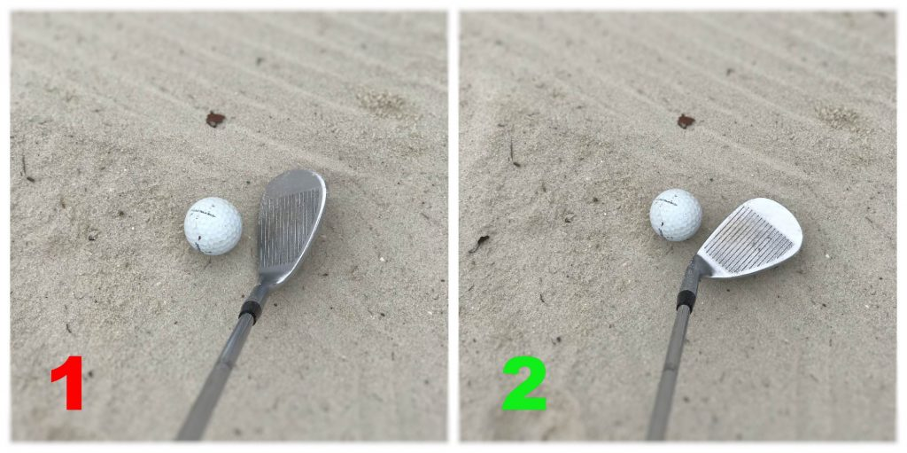 Open up the clubface in the bunker. This will make the club glide over the sand, instead of digging into it.