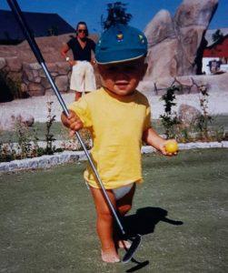 Nicoali Cetti's første møde med golf