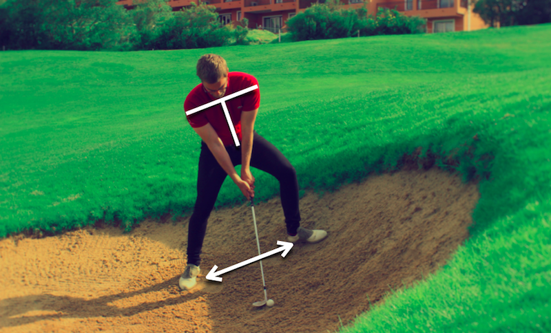 How to setup for an uphill bunker shot